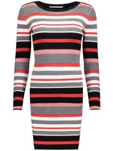 Only Jurk onlSUSAN L/S RIB DRESS KNT 15130123 High Risk Red