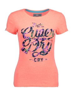 Superdry T-shirt G10002HODS OSAKA TROPICAL UUT CORAL SNOWY