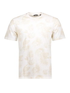 Only & Sons T-shirt onsKRIS WASHED AOP O-NECK EXP Blanc de Blanc