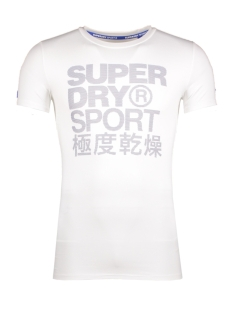Superdry Sport shirt M10000PO GRAPHIC TEE 04C WHITE