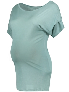 Mama-Licious Positie shirt MLDAGMAR S/S JERSEY TOP A V 20006965 Mineral Blue