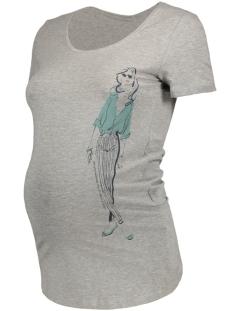 Mama-Licious Positie shirt MLELLIE S/S JERSEY TOP A V 20006942 Light Grey Melange
