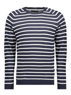 Jack & Jones Trui JPRIBE KNIT CREW NECK STRIPE STS 12117687 Navy Blazer/Jet Stream