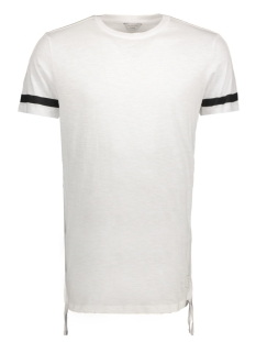 Jack & Jones T-shirt JCOFRING TEE SS CREW NECK - CAMP 12119217 White/Longline