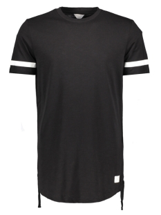 Jack & Jones T-shirt JCOFRING TEE SS CREW NECK - CAMP 12119217 Black/Longline