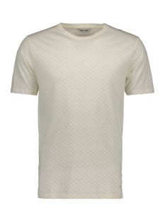Only & Sons T-shirt onsDANIEL AOP O-NECK EXP 22006703 Blanc de Blanc