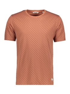 Only & Sons T-shirt onsDANIEL AOP O-NECK EXP 22006703 Copper Brown