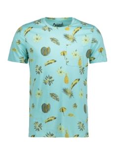 Jack & Jones T-shirt JORFUNKY TEE SS CREW NECK 12121438 Aqua Sky/Slim