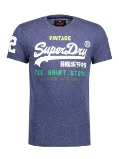 Superdry T-shirt M10040ANF1 SHIRT SHOP TEE Navy Snow