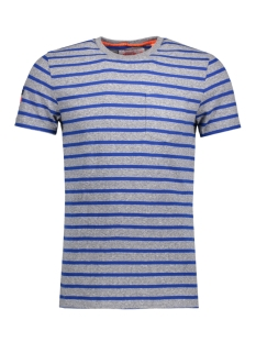 Superdry T-shirt M10006OO CLASSIC STRIPE ZQS Pearl Grey