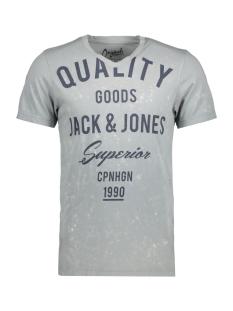 Jack & Jones T-shirt JORTAMPA TEE SS V-NECK 12122152 Mirage Gray/Slim Fit