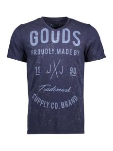 Jack & Jones T-shirt JORTAMPA TEE SS V-NECK 12122152 Total Eclipse/Slim Fit