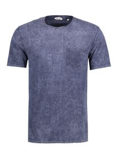 Only & Sons T-shirt onsDRAKE WASHED AOP O-NECK EXP 22006683 Mood Indigo