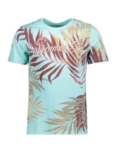 Jack & Jones T-shirt JORREMY TEE SS CREW NECK 12121436 Aqua Sky
