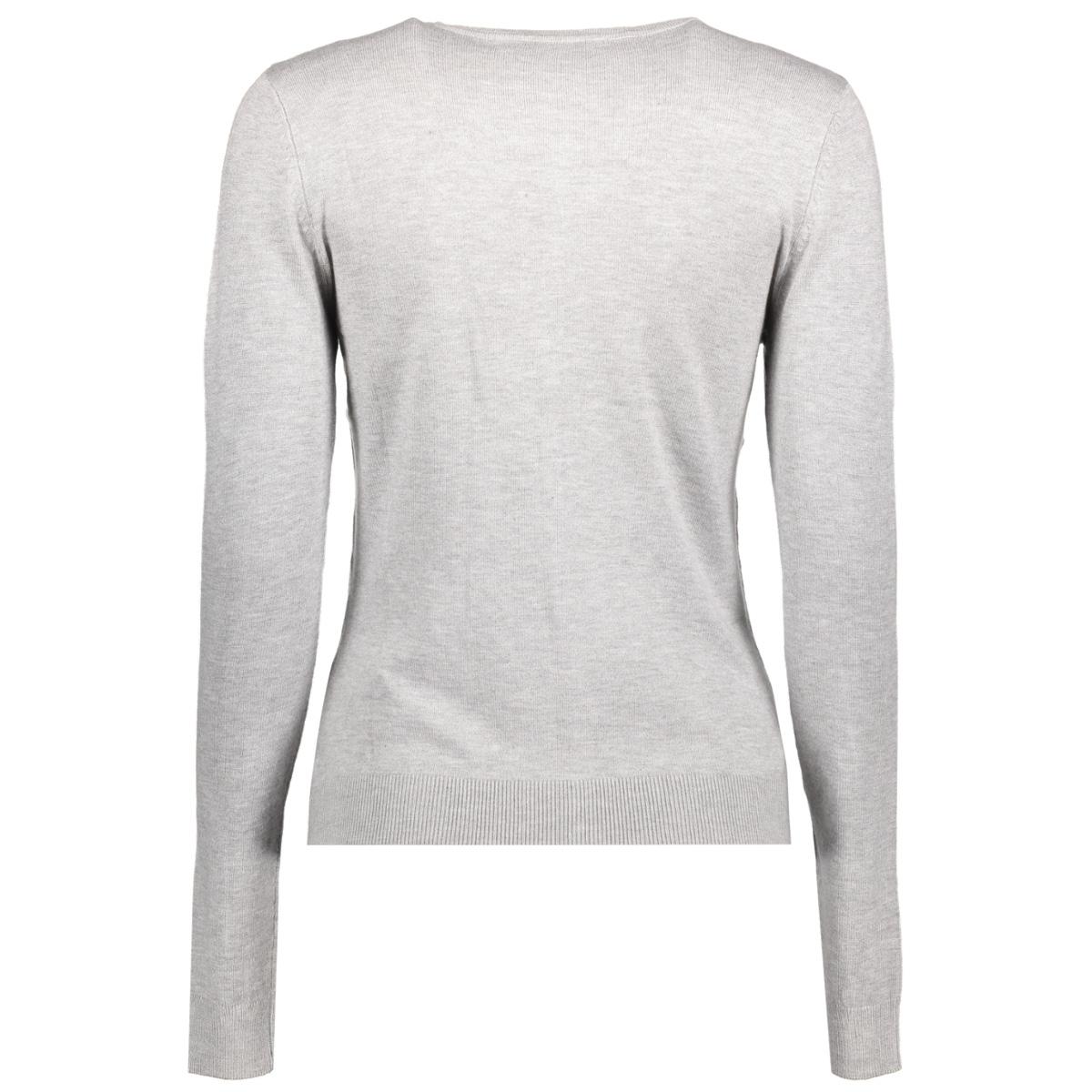 onlbella l/s button cardigan knt 15121982 only vest light grey melange