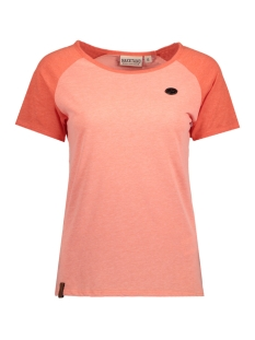 Naketano T-shirt 1701-0068-837 CORAL SPICEY RED