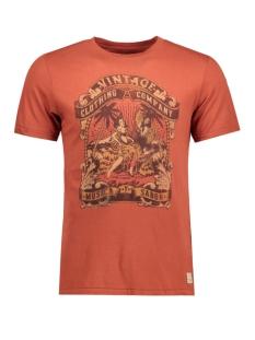 Jack & Jones T-shirt JJVHARRY SS TEE CREW NECK 12116506 Burnt Henna