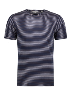 Only & Sons T-shirt onsALBERT STRIPE SS SLIM TEE NOOS 22006398 Dress Bluess/Shadow Grey