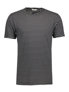 Only & Sons T-shirt onsALBERT STRIPE SS SLIM TEE NOOS 22006398 Black