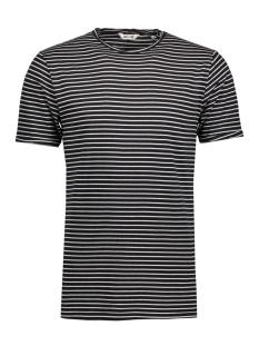 onsalbert stripe ss slim tee noos 22006398 only & sons t-shirt black/white