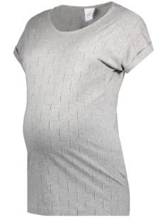 Mama-Licious Positie shirt MLNADIA S/S JERSEY TEE A 20007621 Light Grey Melange/ Peach Whip