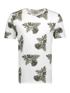 onsTHAT SS FITTED FISHTALE TEE 22005416 Bright White Green