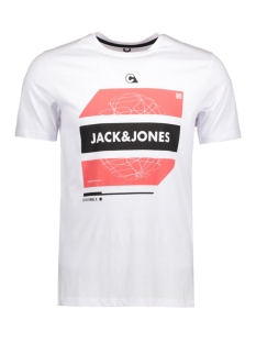 Jack & Jones T-shirt JCOBOOSTER TEE SS CREW NECK 005 12129674 White/ Squares