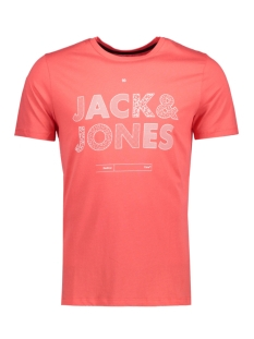 jcobooster tee ss crew neck 005 12129674 jack & jones t-shirt cayenne