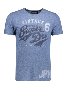 Superdry T-shirt M10027XOL STACKER CO7 BASEBALL MARL