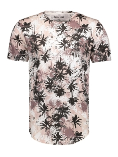 Only & Sons T-shirt onsMATTY AOP SS FITTED TEE 22006555 Shadow Gray