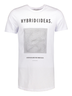 Jack & Jones T-shirt JCOHYBRID TEE SS CREW NECK 12131700 White/Slim