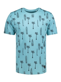 Only & Sons T-shirt onsSEMI SS FITTED CURVED TEE 22006405 Aqua
