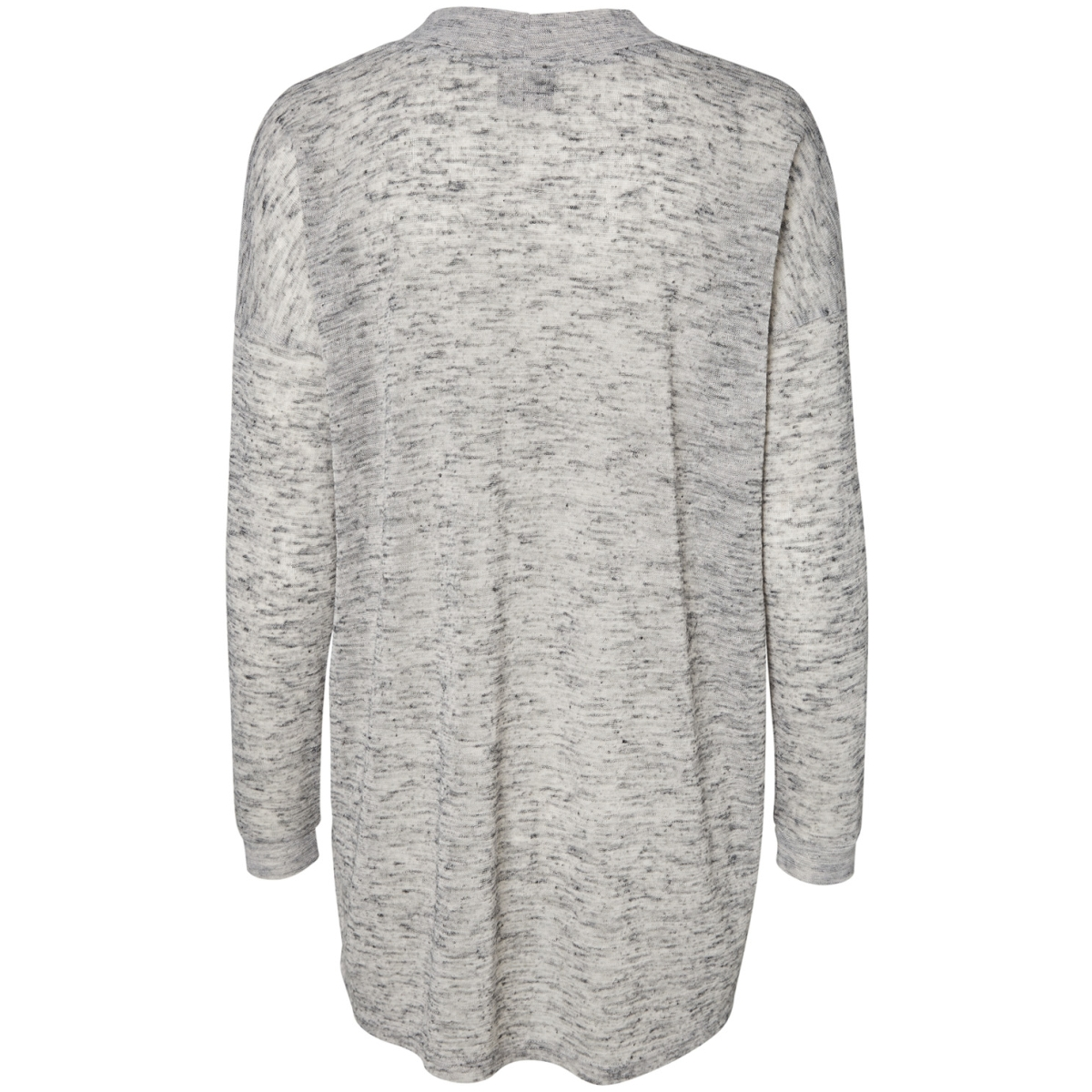 vmsunshine ls open cardigan a 10175399 vero moda vest light grey melange
