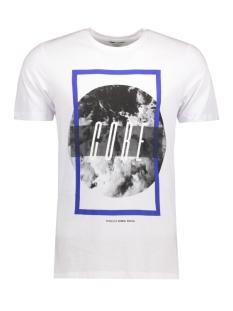 Jack & Jones T-shirt JCOMANGO-FIRE TEE SS CREW NECK CAMP 12120444 White/Fire