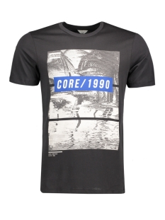 Jack & Jones T-shirt JCOMANGO-FIRE TEE SS CREW NECK CAMP 12120444 Black/Mango