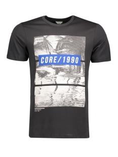 Jack & Jones T-shirt JCOMANGO-FIRE TEE SS CREW NECK CAMP 12120444 Black/Mango