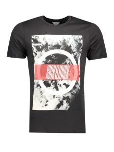 Jack & Jones T-shirt JCOMANGO-FIRE TEE SS CREW NECK CAMP 12120444 Black/Fire
