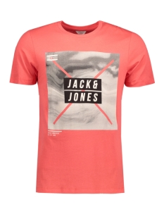 Jack & Jones T-shirt JCOMANGO-FIRE TEE SS CREW NECK CAMP 12120444 Cayenne/ Mango