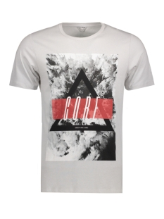 Jack & Jones T-shirt JCOMANGO-FIRE TEE SS CREW NECK CAMP 12120444 Mushroom/Fire