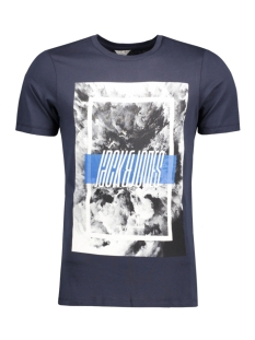 Jack & Jones T-shirt JCOMANGO-FIRE TEE SS CREW NECK CAMP 12120444 Sky Captain/Fire