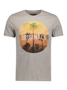 Jack & Jones T-shirt JORCREEK TEE SS CREW NECK 12120928 Mirage Gray