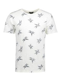 Jack & Jones T-shirt JPRMILTON TEE SS CREW NECK 12121641 Blanc de Blanc