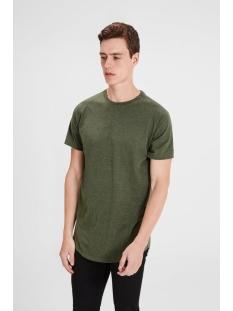 jcorafe tee ss crew neck noos 12123031 jack & jones t-shirt rifle green/reg melang