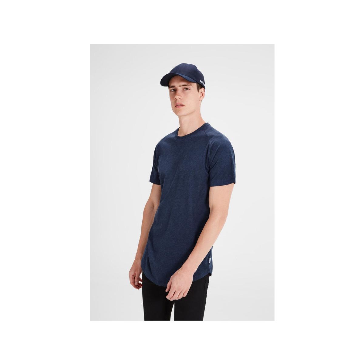 jcorafe tee ss crew neck noos 12123031 jack & jones t-shirt sky captain/reg melang