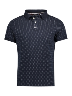 Superdry Polo M11001ONF1 CLASSIC AOP 98T ECLIPSE NAVY