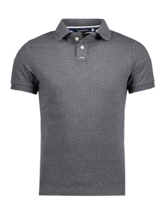 Superdry Polo M11001ONF1 CLASSIC AOP HEB DARK CHARCOAL