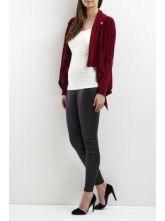 objdeanna light knit cardigan noos 23025313 object vest pomegranate