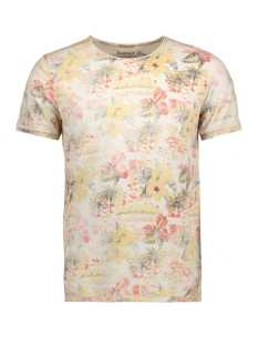 Jack & Jones T-shirt JJVLUDHAM TEE SS CREW NECK 12120821 Fog/ Slim fit