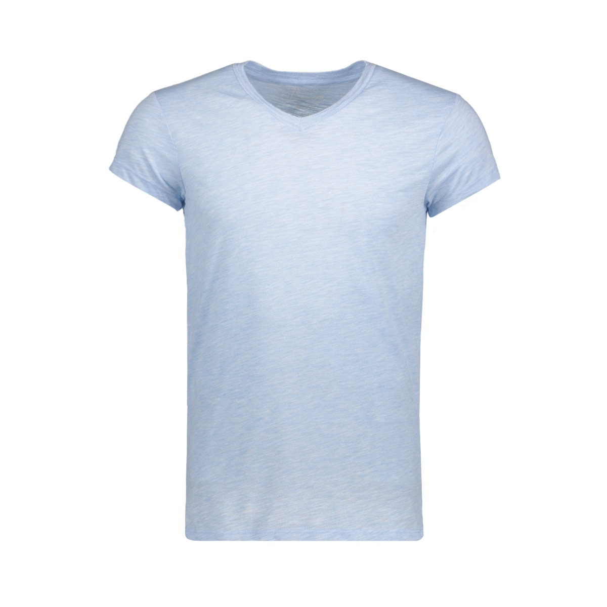 jprmust tee ss v neck exp 12130936 jack & jones t-shirt chambray blue/slim fit