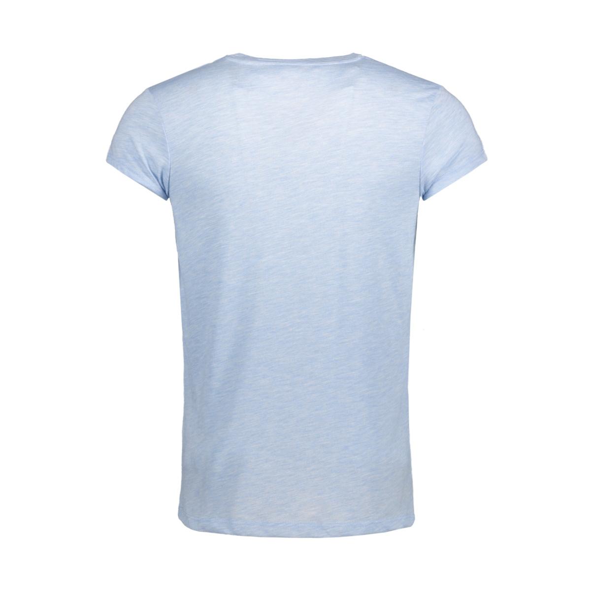 jprmust tee ss v neck exp 12130936 jack & jones t-shirt chambray blue/slim fit